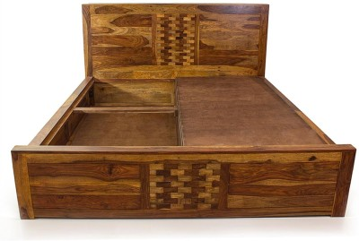 Evok Imporio Solid Wood King Bed With Storage