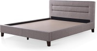 Urban Ladder Gemellus Upholstered Engineered Wood Queen Bed(Finish Color -  Mist Brown)