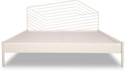 Godrej Interio Liva Illusion Metal King Bed(Finish Color - White)