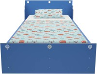 Housefull Engineered Wood Single Bed(Finish Color -  Sky Blue)