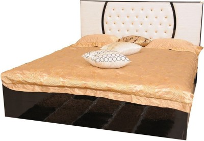 Parin Engineered Wood Queen Bed With Storage(Finish Color - Black)