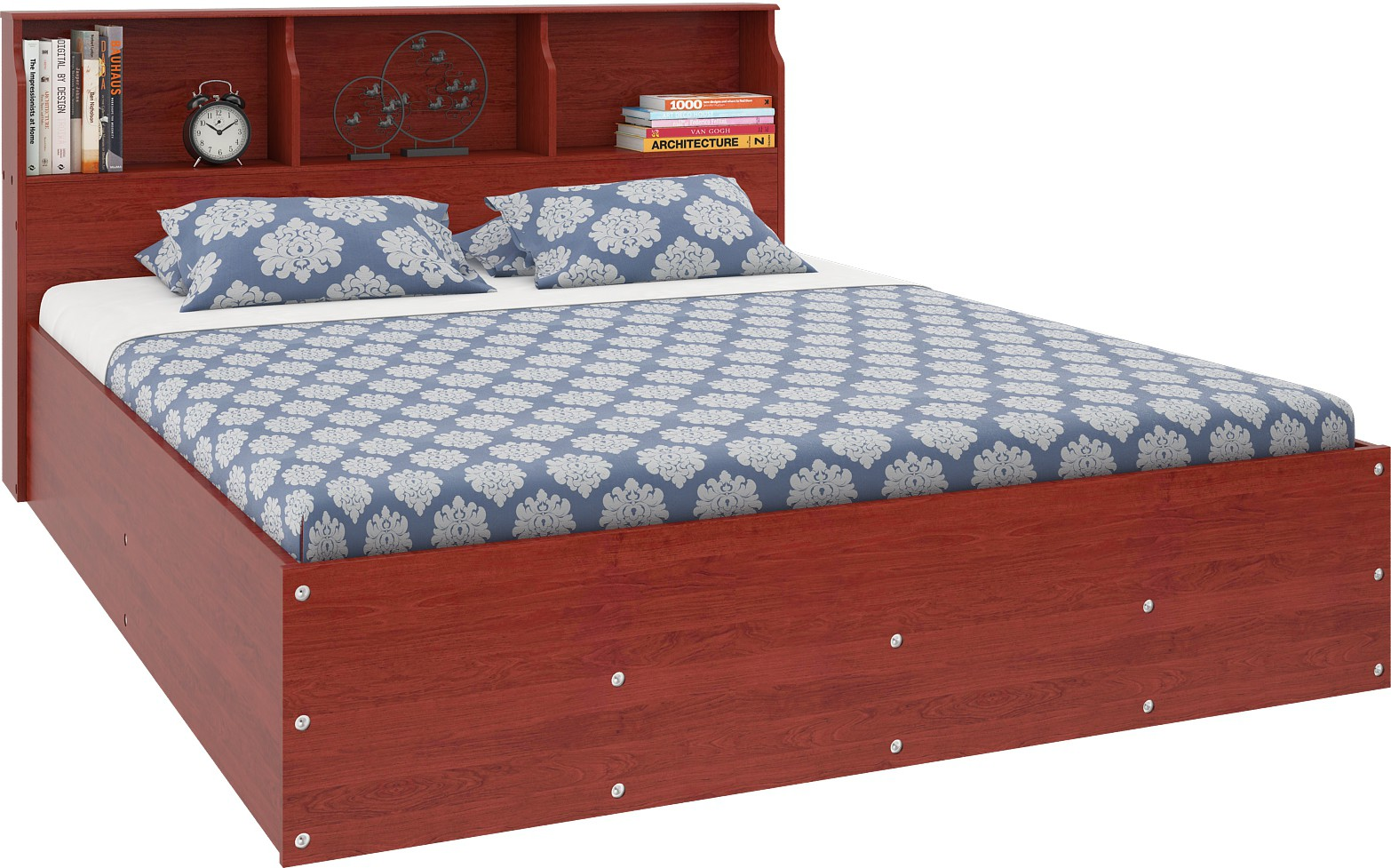 View Housefull Engineered Wood Queen Bed With Storage(Finish Color -  Brown) Furniture (Housefull)