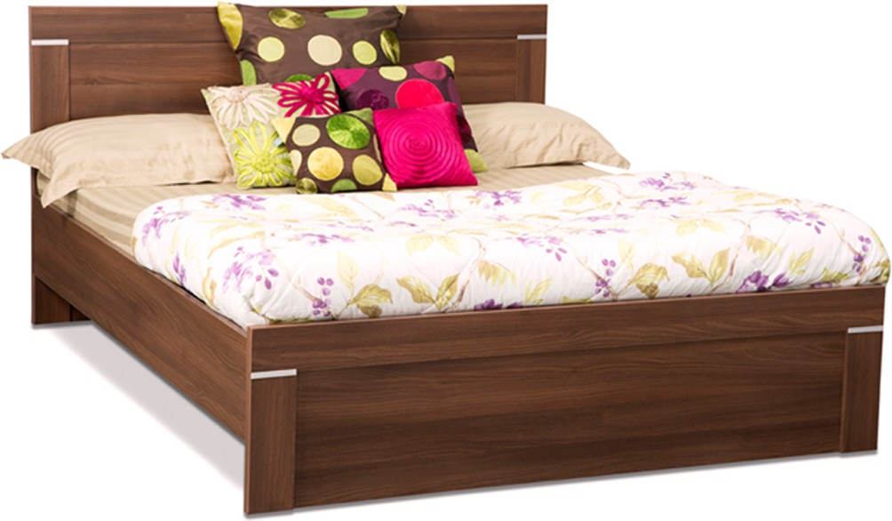 View Debono Solitaire AD NB Bed Engineered Wood Queen Bed(Finish Color -  Acacia Dark) Furniture (Debono)