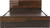 Evok Cosmo Engineered Wood King Bed With Storage(Finish Color -  Walnut)