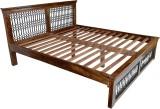 Blueginger Jali Bed Solid Wood Queen Bed...