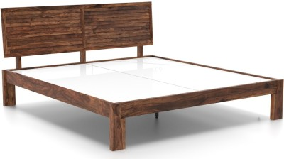 Urban Ladder Terence Solid Wood Queen Bed(Finish Color - Teak)