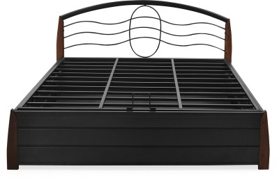 @home by Nilkamal Bailomous Metal Queen Bed With Storage