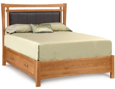 TEZERAC Solid Wood Queen Bed With Storage(Finish Color - Natural)