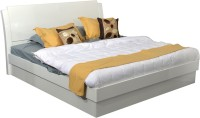HomeTown Aspen Engineered Wood Queen Bed With Storage(Finish Color -  White)