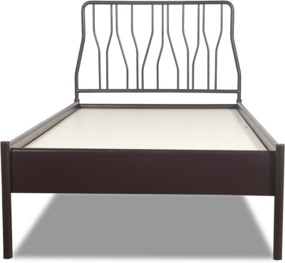 Godrej Interio Metal Single Bed(Finish Color - Wine Red)
