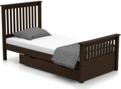 Urban Ladder Athens Solid Wood Single Bed With Storage(Finish Color -  Dark Walnut)