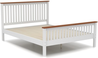 Urban Ladder Athens Solid Wood Queen Bed(Finish Color - White)