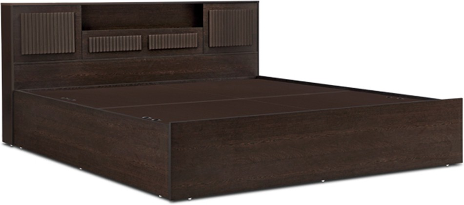 HomeTown Tiago Engineered Wood Queen Bed With Storage(Finish