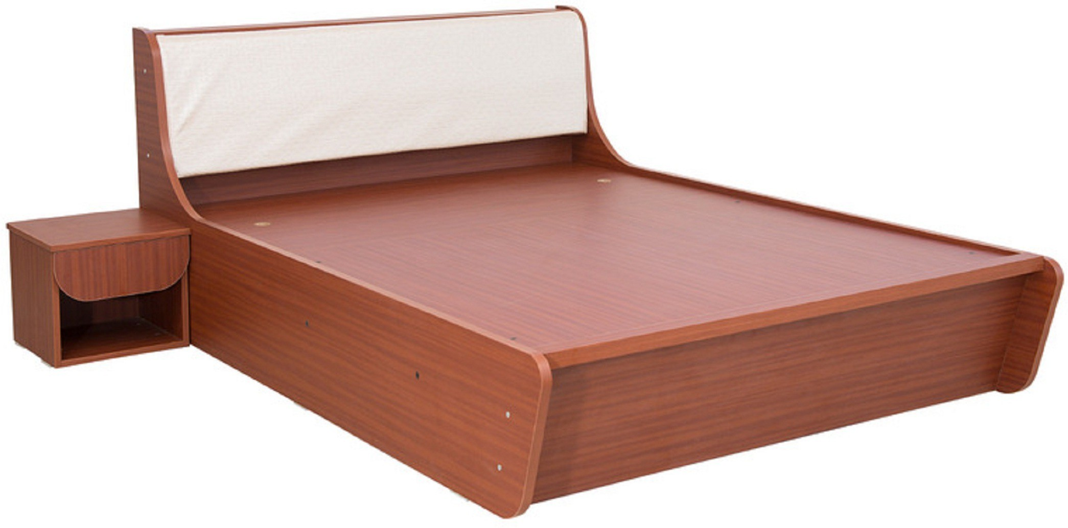 View RAWAT Engineered Wood Queen Bed With Storage(Finish Color -  Sapheli) Furniture (RAWAT)