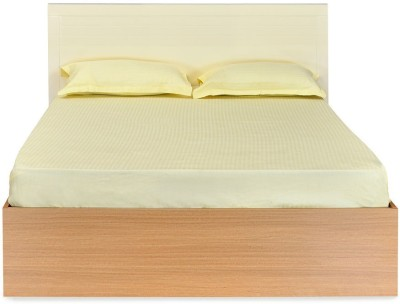 @home by Nilkamal Neo Emily Engineered Wood Queen Bed(Finish Color -  Teak)
