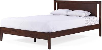 Urban Ladder Brandenberg Solid Wood Queen Bed(Finish Color - Dark Walnut)