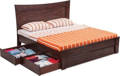 Durian RICHARD/QB Solid Wood Queen Bed With Storage