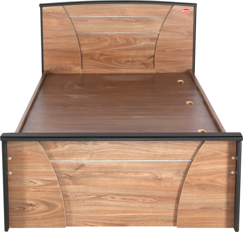 Kurlon berlin engineered wood single bedfinish color walnut