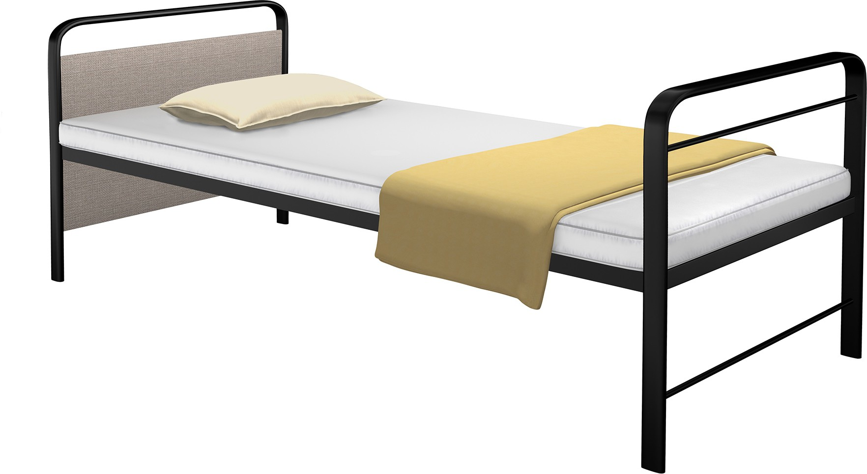 View Camabeds Benne Metal Single Bed(Finish Color -  Black  (Mattress Included)) Furniture (Camabeds)