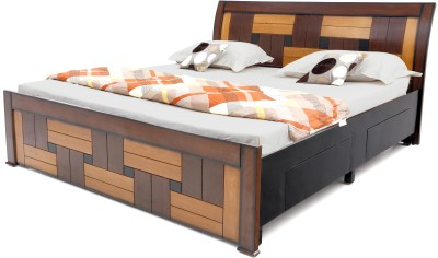 Furnicity Engineered Wood King Bed With Storage