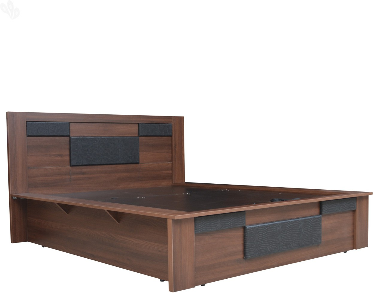 View Crystal Furnitech Engineered Wood King Bed With Storage(Finish Color -  Dark) Furniture (Crystal Furnitech)