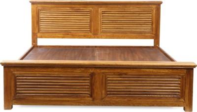Evok Riviera Solid Wood Queen Bed With Storage