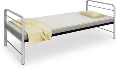 Camabeds Benne Single with Silver Arms Metal Single Bed