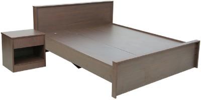 RAWAT Engineered Wood Queen Bed(Finish Color - Wallnut)