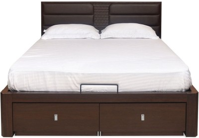 @home by Nilkamal Triumph Engineered Wood Queen Bed With Storage(Finish Color -  Dark Walnut)