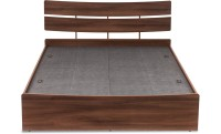 Durian KELLY/QB Engineered Wood Queen Bed With Storage(Finish Color -  Walnut)