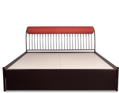 Godrej Interio Metal King Bed With Storage(Finish Color - Wine Red)