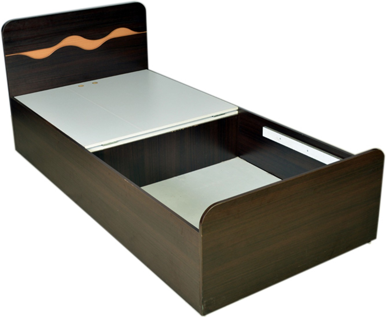 HomeTown SWIRL SINGLE Engineered Wood Single Bed With Storage class=