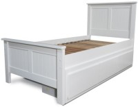 Tezerac Solid Wood Queen Bed(Finish Color -  white)
