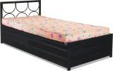 FurnitureKraft Metal Single Bed With Sto...