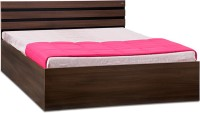 Debono Cocoa AD BL BS Bed Engineered Wood Queen Bed With Storage(Finish Color -  Black & Acacia Dark Matt Finish)