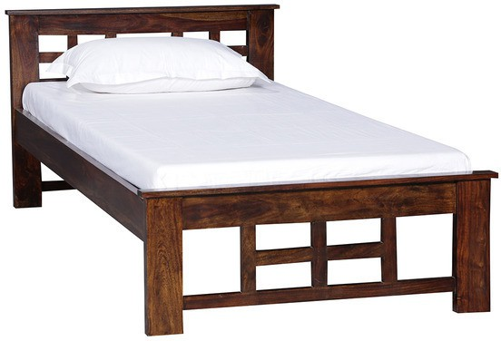 View Ethnic Handicrafts Solid Wood Single Bed(Finish Color -  Provincial Teak) Furniture (Ethnic Handicrafts)