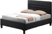 Tezerac Solid Wood Queen Bed(Finish Color -  walnut)