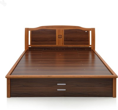 Royal Oak Daisy Engineered Wood Queen Bed With Storage(Finish Color -  Honey Brown)