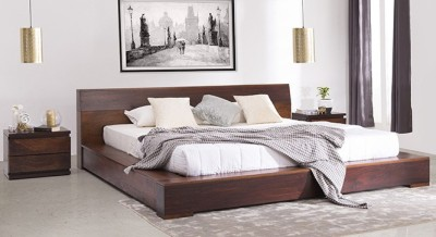 Urban Ladder Duetto Solid Wood King Bed(Finish Color - Two Tone)