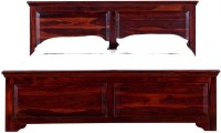 Amaani Furniture's Solid Wood Queen Bed(Finish Color -  Honey Oak)