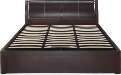 @home by Nilkamal Engineered Wood Queen Bed With Storage(Finish Color -  DARK WALNUT)