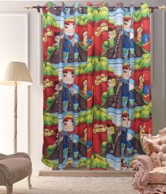 Sai Arpan Polyester Multicolor Cartoon Eyelet Door Curtain