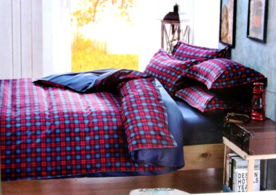 Indiano Polycotton Checkered Double Bedsheet