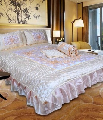 OM PRINTS Satin Bedding Set
