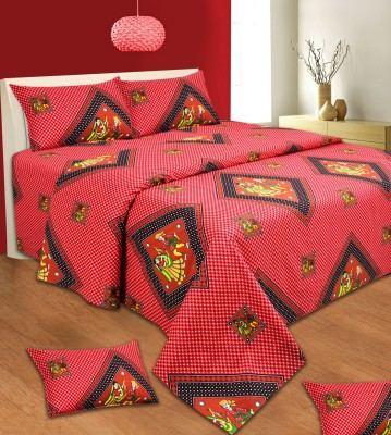 Aanand Sarover Cotton Abstract Double Bedsheet
