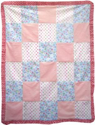 Abracadabra Velboa Patch Work Blanket - Rose Pink