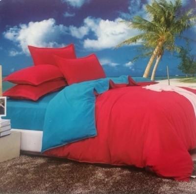 Dexim Double Florescent Color Polyester, Satin Bedding Set