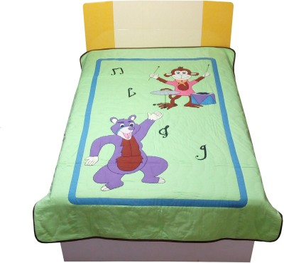 Hugs,n,Rugs Embroidered Single Quilts & Comforters Multicolor