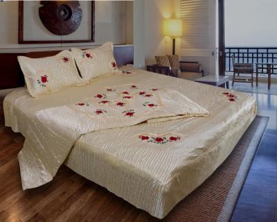 Home Shop Gift Satin Bedding Set(Yellow)
