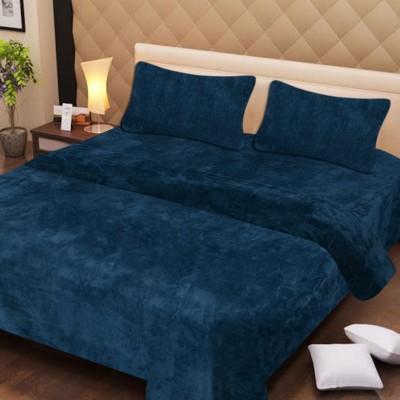 Ech oly Plain Double Blanket Multicolor